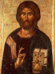 14th-century Macedonian painting of Jesus
