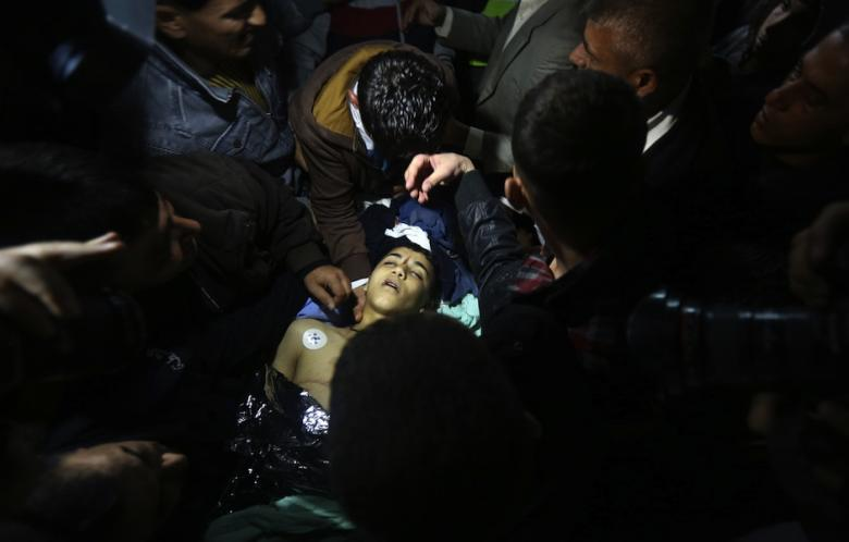 17-year-old Imam Dweikat, killed by Israeli troops on 29 December 2014.  CREDIT: AFP / Jaafar Ashtiyeh