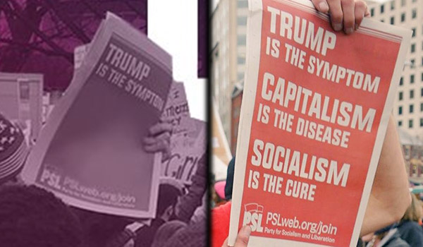 Right-wing Democratic Party censors socialist messaging in doctored Twitter photo of PSL newspaper