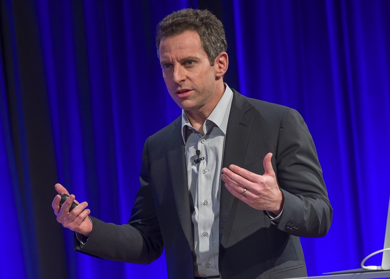"""Echoing fascists, Sam Harris wants to """"keep the number of Muslims down in any society,"""" to keep culture """"enlightened"""""""