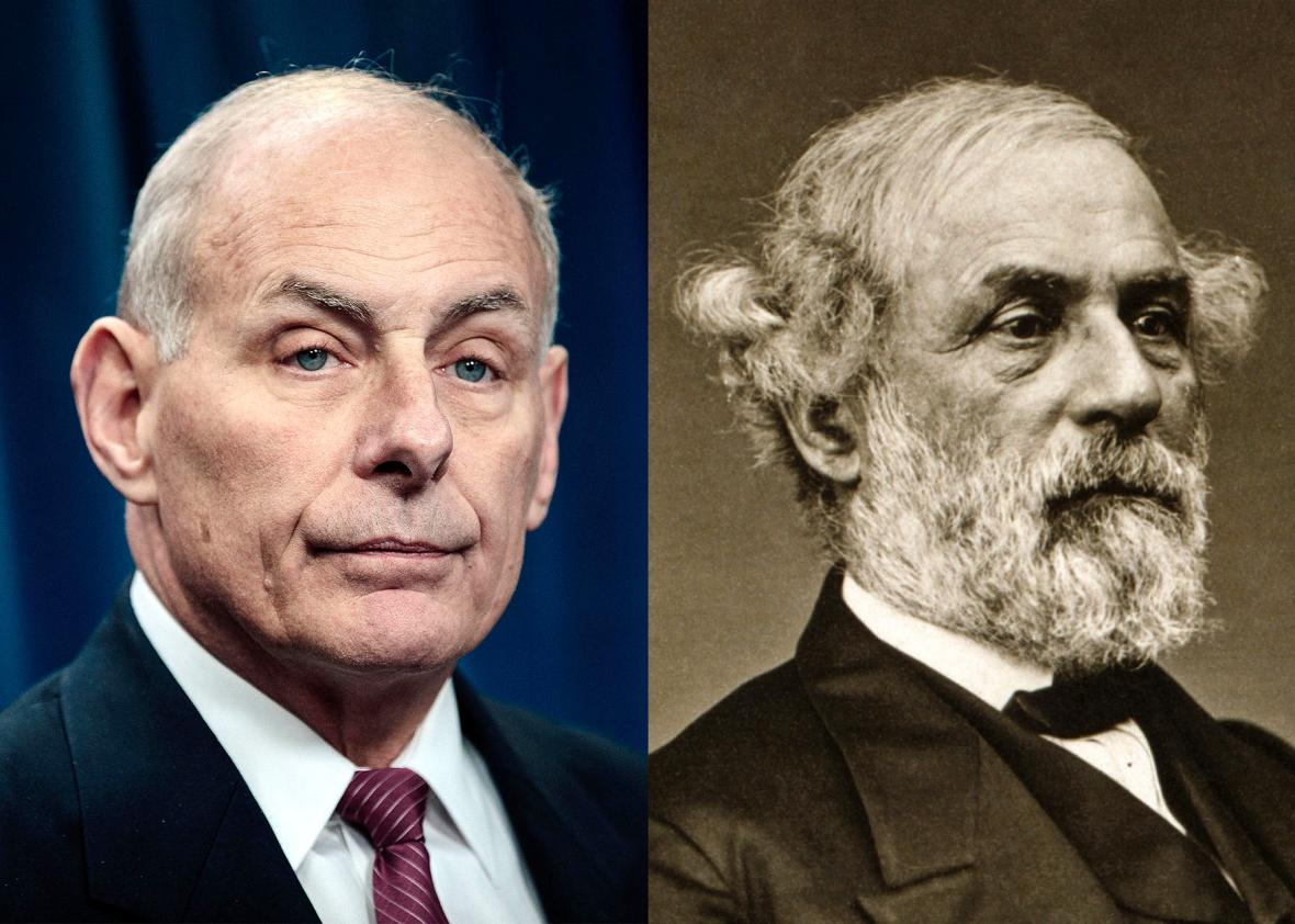 """""""Moderate"""" John Kelly compliments slavery-defending Confederate General Robert E. Lee after media lionized him"""